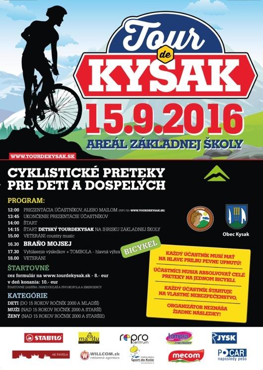 e1ebab490e7e7 TOUR de Kysak 2016 | Krásy našej obce | Kysak | Oficiálne stránky obce