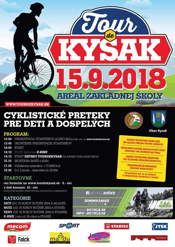 30308a553073d TOUR de Kysak 2018 | Kysak | Oficiálne stránky obce
